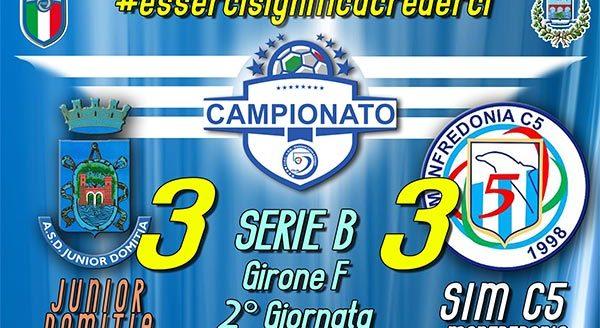 Junior Domitia - SIM c5 Manfredonia 3 a 3